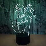 Lampada da tavolo illusione notturna a forma di lampada 3D, batteria AA/alimentata via USB, interruttore a sfioramento/telecomando, 7 colori, per la decorazione della tavola e la decorazione notturna