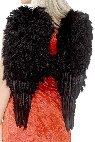 Smiffys Damen Engelsflügel, Gefiedert, One Size, Schwarz, 20900 (60-dress Up Ideen)