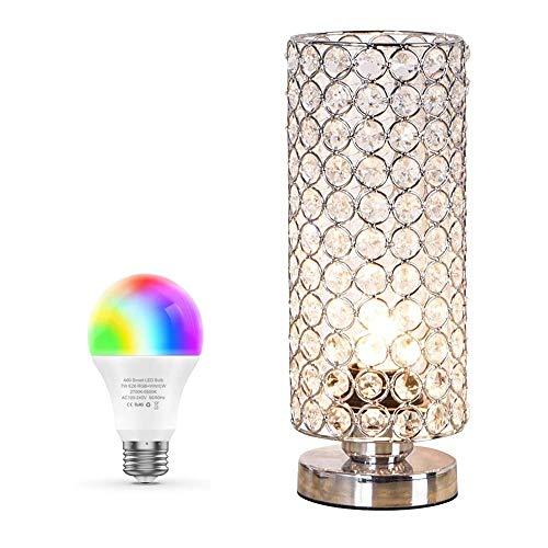 CCLAY Kristall tischlampe, dekorative nachttisch Zimmer lampen, modische kleine tischlampe Set von 2 für Schlafzimmer, Wohnzimmer, kommode, esszimmer -