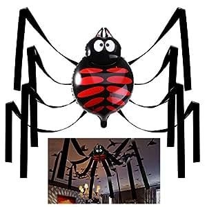 UNOMOR Halloween 20 Fuß Gigant Spinne Dekorationen Deckenhänger Set für Party