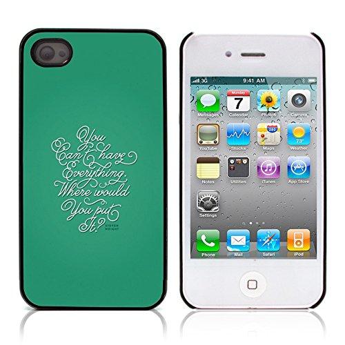 Graphic4You Happies And Crappies Englisch Zitat Nachricht Harte Hülle Case Tasche Schutzhülle für Apple iPhone 4 und 4S Design #8