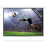 FrontStage Pantalla para proyector con motor 360 x 270 cm 4:3 (para proyecciones HDTV, recubierta...
