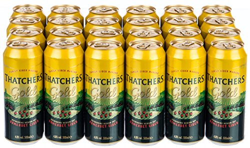 Thatchers Gold Medium Dry Somerset Cider (24 x 0.5 l)