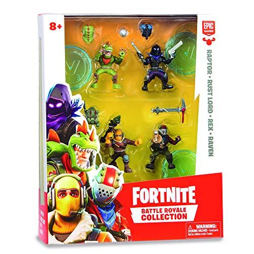Fortnite - Blister 4 Figuras 7 cm, personajes edición limitada (Gioch