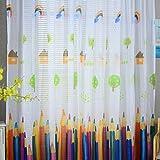 Vorhänge ösen Wohnzimmer Modern Jamicy® 100 x 200cm Neu Mode Auto Transparent Orientalisch Muster Stift Fenster Gardinen Deko Für Schlafzimmer Kinderzimmer Jungen