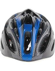 SODIAL (R) del casco de ciclista de la bicicleta casco cuesta abajo casco de carreras casco patinador M / L Azul