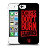 Head Case Designs Excuses Fitness Motivation Soft Gel Hülle für iPhone 4 / iPhone 4S