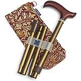 Blue Badge Bronze réglable Canne de marche pliante et élégant Sac de rangement, Bronze/William Morris Tête de serpent