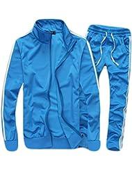 yffushi para hombre y mujer Otoño Manga Larga Entrenamiento Ballet con cuello ajustado y alemán] Casual, color azul claro, tamaño XS
