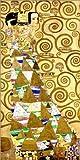 Posterlounge Leinwandbild 40 x 80 cm: Der Lebensbaum (Die Erwartung) von Gustav Klimt - fertiges Wandbild, Bild auf Keilrahmen, Fertigbild auf echter Leinwand, Leinwanddruck