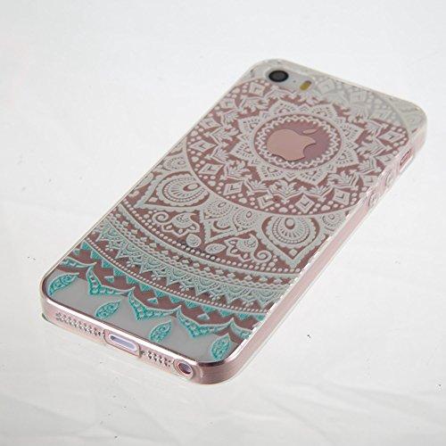iPhone5/5G/5SE Fall, xinyiyi & #-, stoßfest Soft Shell Langlebig kratzfest iPhone5/5G/5SE Farbverlauf TPU Handy Shell blau