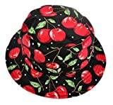 ZLYC Unisex Funky Fruit Print Bucket Hat Fishmen Outdoor Cap