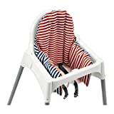 Ikea Antilop Highchair with Tray,safety Belt, White, Silver Colour and Antilop Highchair White complete with cushion by IKEA