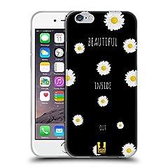 Idea Regalo - Head Case Designs Inside Out Fantasia Margherite Cover Morbida In Gel Per Apple iPhone 6 / 6s