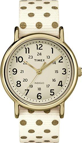 Timex mujer-reloj Timex WEEKENDER Dots analógico de cuarzo nylon TW2P66100