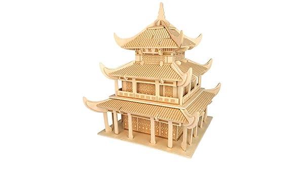 Chinesisches Tor 3D Holzbausatz Gebäude Holz Haus Steckpuzzle Bauwerk Holzpuzzle