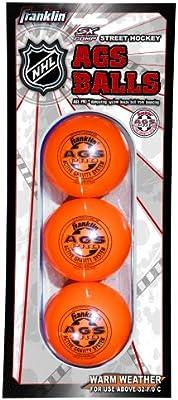 NHL Hockey AGS Pro alta densidad bola, naranja, 3 Pack