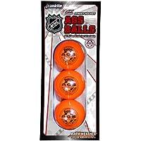 Franklin NHL Hockey AGS Pro Alta Densidad Bola, Naranja, 3 Pack