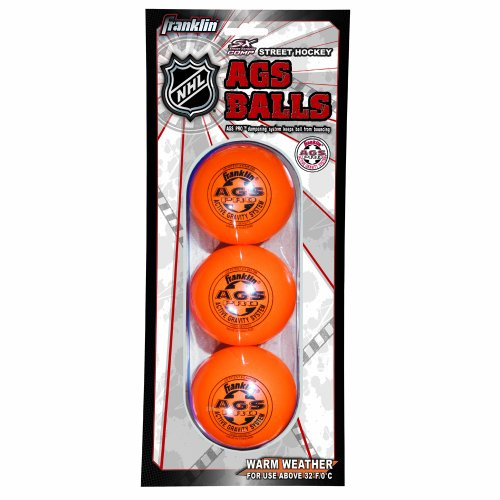 NHL AGS Pro HAUTE DENSITE Vicroy Balle pour Street Hockey-Orange-Lot de 3