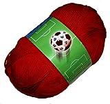 Lana Grossa Meilenweit Cotton Teamcolor 6-Fach Uni F. 608 Rot 100g Sockenwolle