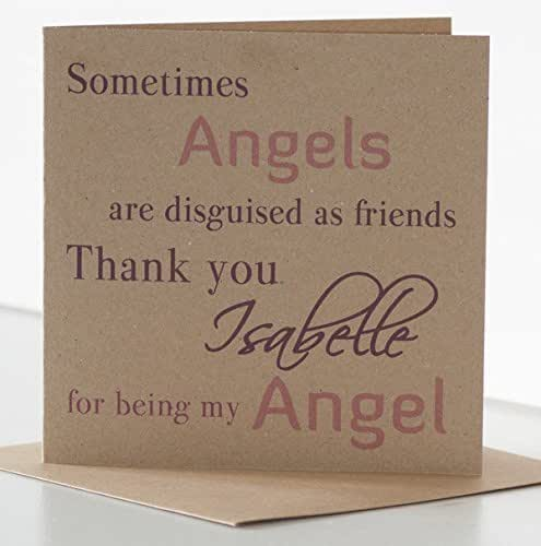 Best Friend Birthday Gifts Amazon Co Uk: Angel Birthday Card For Friend. Personalised Birthday Card