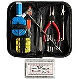 285 pcs Outil de Réparation Montre Kit - Professionnel D'horlogerie Kits de Réparation Extracteur de Liens, Ouvre Boitier, Barres à Ressort Watch Repair Tools pour Hommes et Femmes