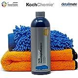 detailmate Autoreinigung Set: Koch Chemie Nano Shampoo 750ml + Waschhandschuh Chenille + Liquid Elements Orange Baby Mikrofaser Trockentuch XL 60x90 cm 800 GSM