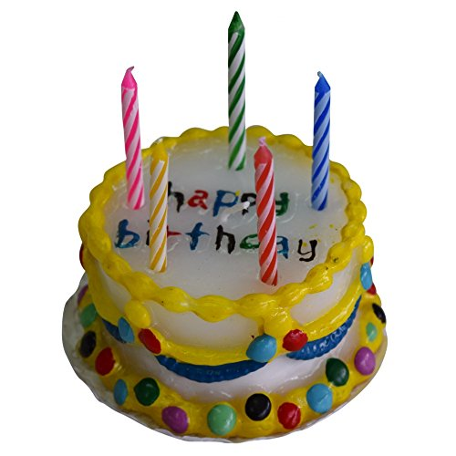 Geburtstagskerze in Tortenform
