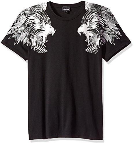 Just Cavalli Herren T-Shirt Löwe - Schwarz - Groß