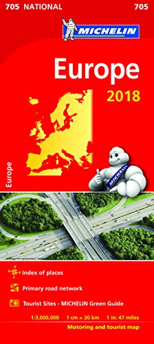 Europe 2018 National Map 705 (Michelin National Maps)