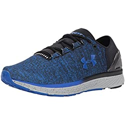 Under Armour UA Charged Bandit 3, Zapatillas de Running para Hombre, Black/Ultra Blue, 42.5 EU