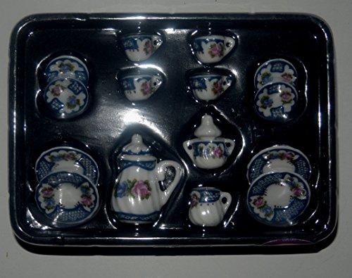 Lea Pet Puppen Kaffeeservice 15 teilig in 1:12 aus Porzellan