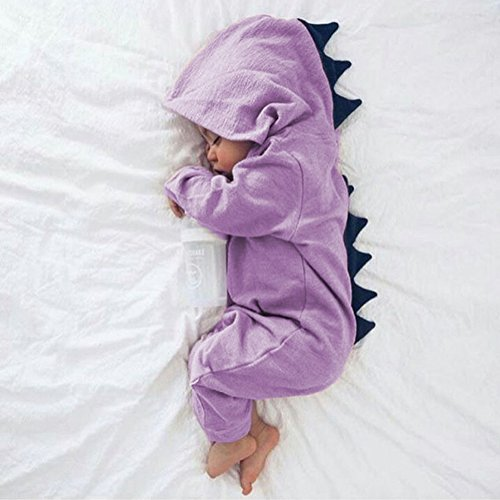 Gfjhgkyu Halloween Alltag Baby Boy Girl Halloween Dinosaurier Kostüm Neugeborenen Kleinkind Jumpsuit Purple ()