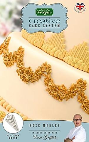 Rose Medley–Katy Sue Designs Moule en silicone pour gâteau Décorer Vos Cupcakes et gâteaux et bonbons