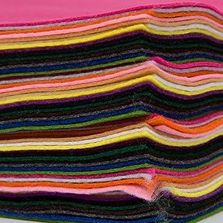 EduKit Acrylic Felt Sheets | 60 pc A4 Felt Fabric Lot in 15 Assorted Colors for Arts & Crafts, Felt Flowers, Felt Coasters, Felt Jewelry, Felt Stickers, Felt Letters & More