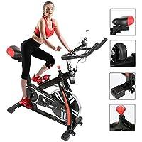 Preisvergleich für Flyelf Fitnessbike Heimtrainer Sports Fitnessfahrrad Ergometer LED Display mit Wasserkessel