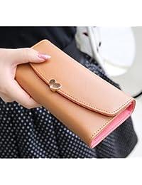 F9Q Femme bouton Faux sac à main de cuir, portefeuille embrayage sac à main Lady Cartables