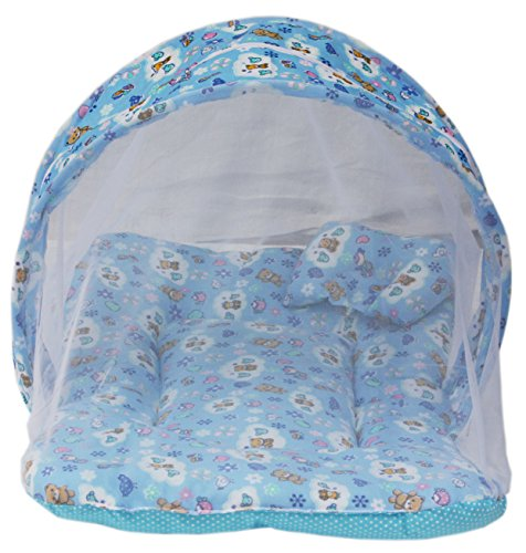 Amardeep and Co MT-01nb Toddler Mattress with Mosquito Net (Blue)