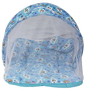Amardeep and Co Toddler Mattress with Mosquito Net (Blue) - MT-01nb