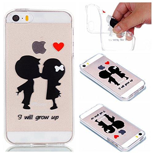 iPhone5/5S/5SE Fall, xinyiyi stoßfest Soft Shell Langlebige iPhone5/5S/5SE kratzfeste TPU Handy Fall Couple