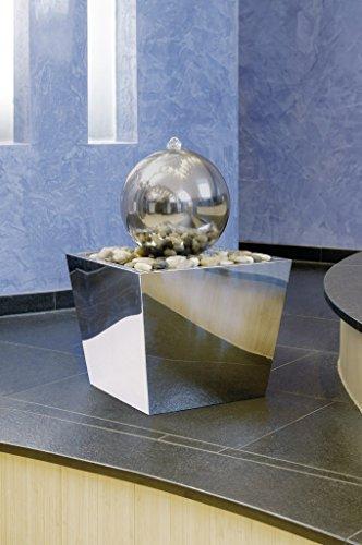 Seliger Kugelbrunnen Sirus aus Edelstahl