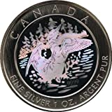 Kanada Silver Anniversary Loon 2000 silber hologramm Medaille in Kapsel