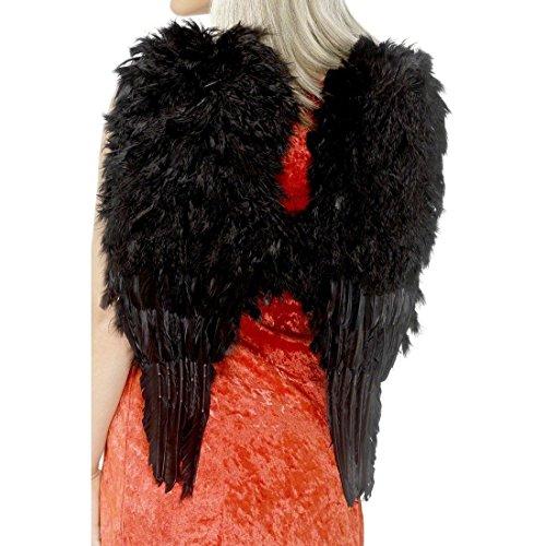 Feder Engel Flügel Engelsflügel Schwarz 50cm X 60cm Kostüm Flügel Engelflügel Federflügel Halloween Karneval