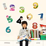 Jessie Letty RoomMates repositionnable Stickers muraux pour enfants - Happi animaux Alphabet (alphabet)