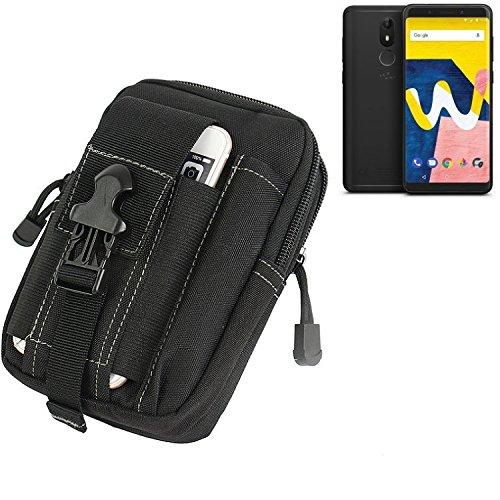 K-S-Trade Gürtel Tasche für Wiko View Lite Gürteltasche Schutzhülle Handy Hülle Smartphone Outdoor Handyhülle schwarz Zusatzfächer