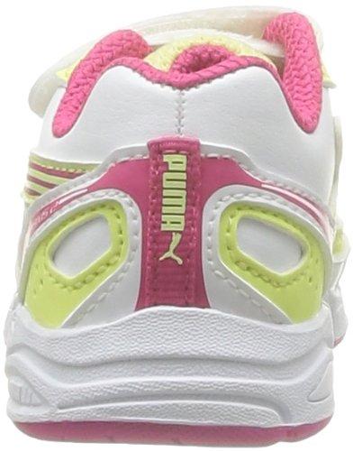 Puma Axis 2 Sl V Kids Baby Jungen Babyschuhe - Lauflernschuhe Weiß - Blanc (White/Beetroot Purple/Lime)