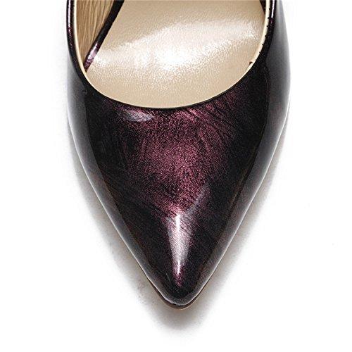 Kevin Fashion , Sandales Compensées femme Rouge - rouge foncé