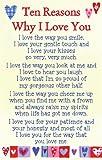 "Heartwarmers Ten Reasons Why I Love You Keepsake Card & Envelope 3.5"" x 2"" Code K105E"