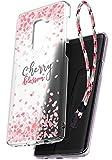 Samsung Galaxy S9 Plus Hülle, Ringke Slim [Frühling Kirschblüten Edition] Solide Präzise Kontur Superior Slender Sakura Blütenblatt Leicht & Klassisch Modische Hülle mit Handschlaufe - Klarer Nebel
