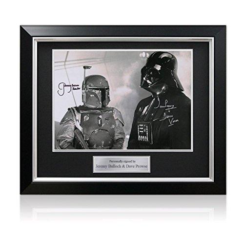 Darth Vader und Boba Fett Foto von Dave Prowse und Jeremy Bulloch unterzeichnet. Im Deluxe-Rahmen. Autogramm Sport-memorabilien